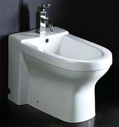 Eago Ja1010 White Ceramic Bathroom Bidet With Elongated Seat