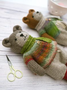 'Tearoom Bears ' Pdf knitting pattern...