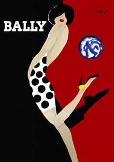 Bally poster by B. Villemot  - Beautiful Vintage Poster Reproductions.  www.postercorner.com