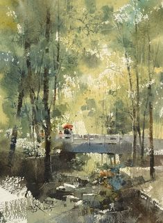 【Forest Holidays / 森林假期】37 x 27 cm  watercolor by Chien Chung Wei