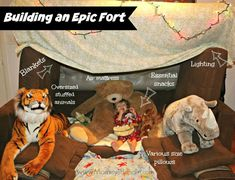 How To Build An Epic Fort With Kids #popsecretforts