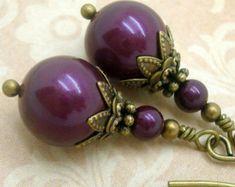 Victorian Earrings Handmade Pearl Drop Jewelry by CloudCapJewelry