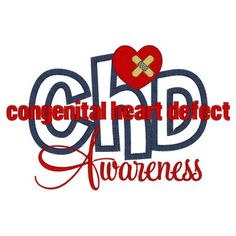CHD (11) Awareness Applique 5x7