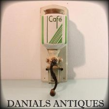 ANTIQUE FANTASTIC ART DECO WALL MOUNTED COFFEE GRINDER.1920'S.