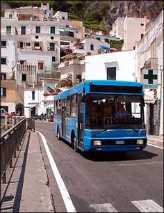 Crazy bus ride from Sorrento to the Amalfi Coast!