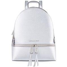MICHAEL Michael Kors Rhea Zip Backpack ($370) ❤ liked on Polyvore featuring bags, backpacks, sport backpack, zipper backpack, zip bag, sports bag and backpack sports bag
