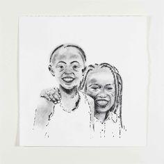 Mes copines - 2015 - inkt, charcoal - 360*360