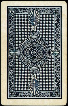 Playing Card back, from Buzz Poole's Playing Cards 2005 Graphic Pattern, Graphic Design, Cool Playing Cards, Deck Of Cards, Vintage Cards, Tarot Cards, Joker, Game Design, Textures Patterns