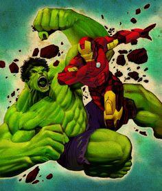The Hulk Battles Iron Man!