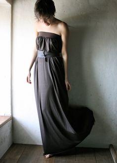 Long Jersey Tunic Dress - Custom made. €77,00, via Etsy.