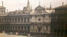 Piazza San Marco verso sud-ovest; 1742 1743; dettaglio con la chiesa di San Geminiano. The Cleveland Museum of Art