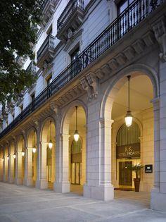 hotel facade K+K Hotel Picasso Classic Architecture, Facade Architecture, Neoclassical Architecture, Facade Design, Exterior Design, Barcelona Hotels, Barcelona Spain, Classic House Design, Mix Use Building