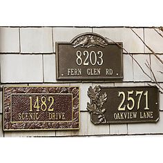 Personalized Address Sign | Enhance the curb appeal of your home with a handsome new Address Sign. Personalize with number and street name.http://www.countrydoor.com/Address-Signs-Personalized.pro?omSource=SLI