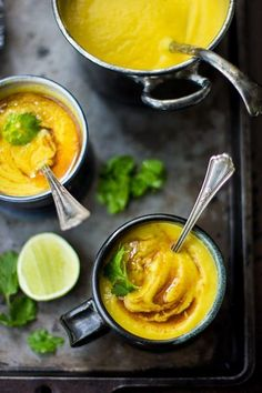 Cauliflower & Yellow Split Pea Soup with Turmeric and Curried Ghee   The…