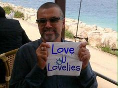George Michael sending love to loyal fans.
