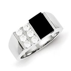 Men's Rectangular Black Onyx CZ Ring In Sterling Silver Jewelry Our black onyx rings for men include mens onyx and diamond rings, men's onyx rings in yellow gold, white gold and sterling silver. Gemologica is proud to offer a premier line of men's gemstone and birthstone rings, most of which are custom made in New York City. Available Exclusively at Gemologica.com https://www.gemologica.com/mens-black-onyx-rings-c-28_46_64_104.html…
