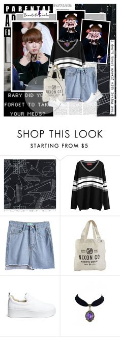 """""""I can't with you."""" by lauacvdo ❤ liked on Polyvore featuring Nixon, Windsor Smith, beautifulhalo, monstax and wonho"""