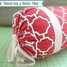 How to Sew a Bolster Pillow {Easy Sewing Project}