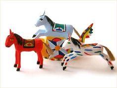 シチリア・パレルモ伝統工芸・張子のお馬さん Traditional Toys, Folk, Hipster Stuff, Popular, Fork
