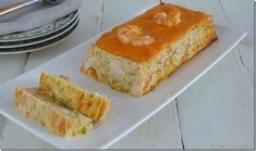 Pastel de puerros y langostinos con salsa de piquillos Seafood Recipes, Appetizer Recipes, Cooking Recipes, Appetizers, Quiches, Tapas, My Favorite Food, Favorite Recipes, Sandwich Cake