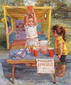"""The Salesmen"": Corinne Hartley, Oil."