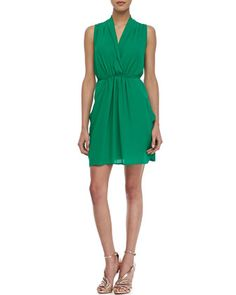 Sleeveless Cross-Front Dress by Cusp by Neiman Marcus at Neiman Marcus.