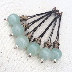 Decorative bobby pin boho hair clips wedding hair accessories women gift for bridesmaid green bridal hair jewelry for flower girl under 20