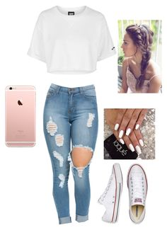 """""""Ivy park"""" by hdflynn ❤ liked on Polyvore featuring Topshop and Converse"""