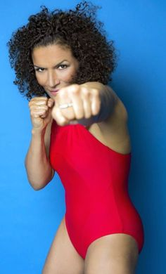Dutch female boxer, kickboxer, and actress Lucia Rijker