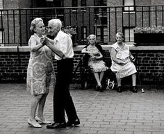 Promise to hold me up and dance with me if I ever become too old to move my body.......That is LOVE