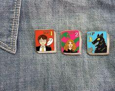 Book Badge enamel pin: HP 3 by janemount on Etsy