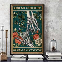 And so together they built a life we loved poster art Halloween Wall Decor, Love Posters, Great Stories, Our Love, Poster Wall, Canvas, Building, Life, Painting