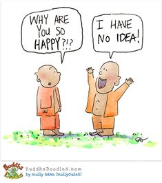 HAPPY? Today's Buddha Doodle