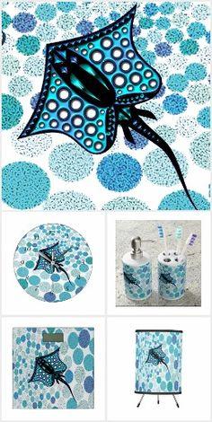TURQUOISE STINGRAY 105 home decor gift ideas