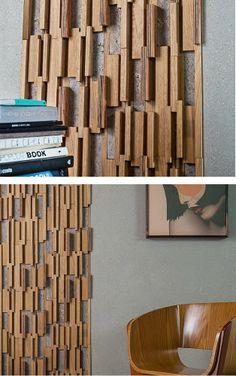 3D Wall Cladding for interior TAIPA NATURA by Mosarte #wood