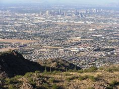 View of Phoenix from South Mountain. Unbelievable how this city is growing. Gorgeous view.  detoursaz.com