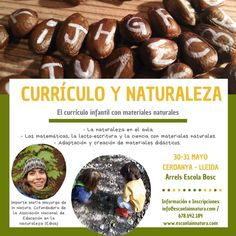 Formación en educación en la naturaleza. El currículo infantil con materiales naturales. Materiales naturales didácticos. In Natura, Sausage, Vegetables, Ethnic Recipes, Food, Natural Materials, Nature, Ice, Meal