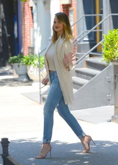 Pin for Later: Chrissy Teigen Shows Off Her Tummy During a Sexy Stroll in NYC