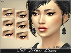 The Sims Resource: Cat Deluxe Liner by Praline Sims • Sims 4 Downloads