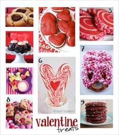Cute and Yummy valentine treats Valentines Sweets, Valentine Cookies, Valentine Day Love, Valentines For Kids, Valentine Stuff, Holiday Treats, Holiday Recipes, Holiday Foods, Family Crafts