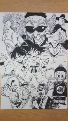 Dragon ball z Dragon Ball Gt, Arte Do Kawaii, Z Tattoo, Ball Drawing, Anime Tattoos, Desenho Tattoo, Manga Drawing, Anime Art, Sketches