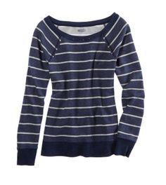 Aerie Sparkle Stripe Crew Sweatshirt