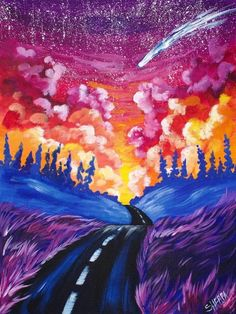40 Acrylic Painting Tutorials & Ideas For Beginners - Brighter Craft <br> 40 acrylic painting ideas. Learn how you can create an acrylic painting step by step. This guide is perfect for all art enthusiasts, especially beginners. Acrylic Painting For Beginners, Acrylic Painting Lessons, Simple Acrylic Paintings, Acrylic Painting Tutorials, Beginner Painting, Acylic Painting Ideas, Galaxy Painting Acrylic, Beginner Art, Road Painting