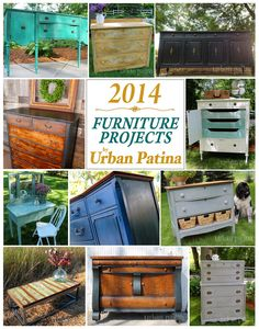 2014 Furniture Project - Wrap Up  LOVE MY SOME URBAN PATINA!
