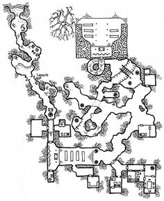 Friday Map] Beneath the Temple   Dyson's Dodecahedron
