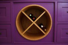 Great wine bottle storage idea for kitchen | Wow factor Interior Design Surrey & Sussex | wowfactor-interiors.co.uk | Portfolio