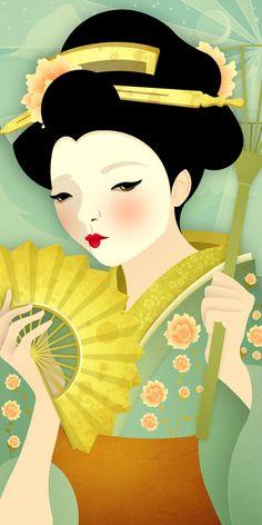 Geisha Olive. By Jenny LLoyd.