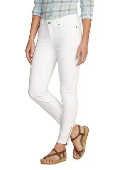 Produkttyp , 5 Pocket Hose, |Optik , Uni, |Stil , Klassisch, |Bund + Verschluss , Reißverschluss, |Passform , für die feminine Figur, |Leibhöhe , Bund unterhalb der Taille, |Beinform , schmales Bein, |Vordertaschen , Seitliche Eingrifftaschen, |Gesäßtaschen , Mit aufgesetzten Taschen, |Saum , Reißverschluss, |Material , Baumwolle, |Materialzusammensetzung , 93% Baumwolle, 5% Polyester, 2% Elast...