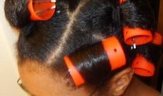 Ponytail Roller set how-to (gets your roots straighter on natural hair)