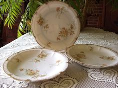 Antique Bavarian Rosenthal China, very similar to my antique pattern. I need to use it more often!
